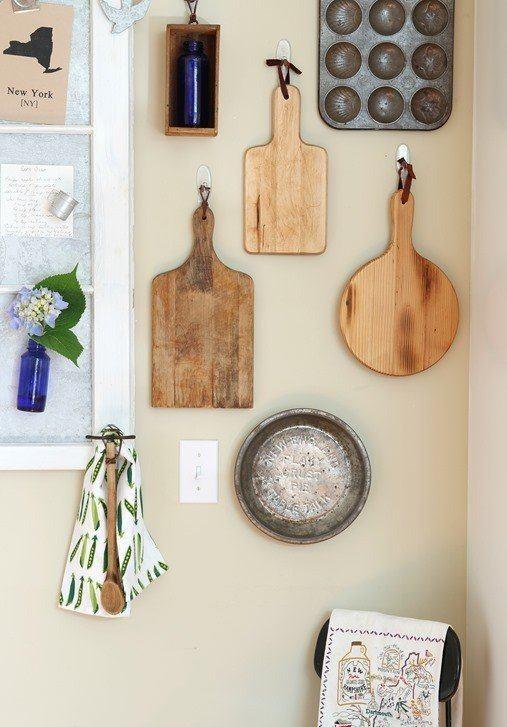E se quiser pode pendurar utensílios e dar um ar inusitado a sua decoração. Vivadecora